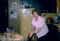 07 Suzanne Setting up Betty's Birthday Dinner 1980